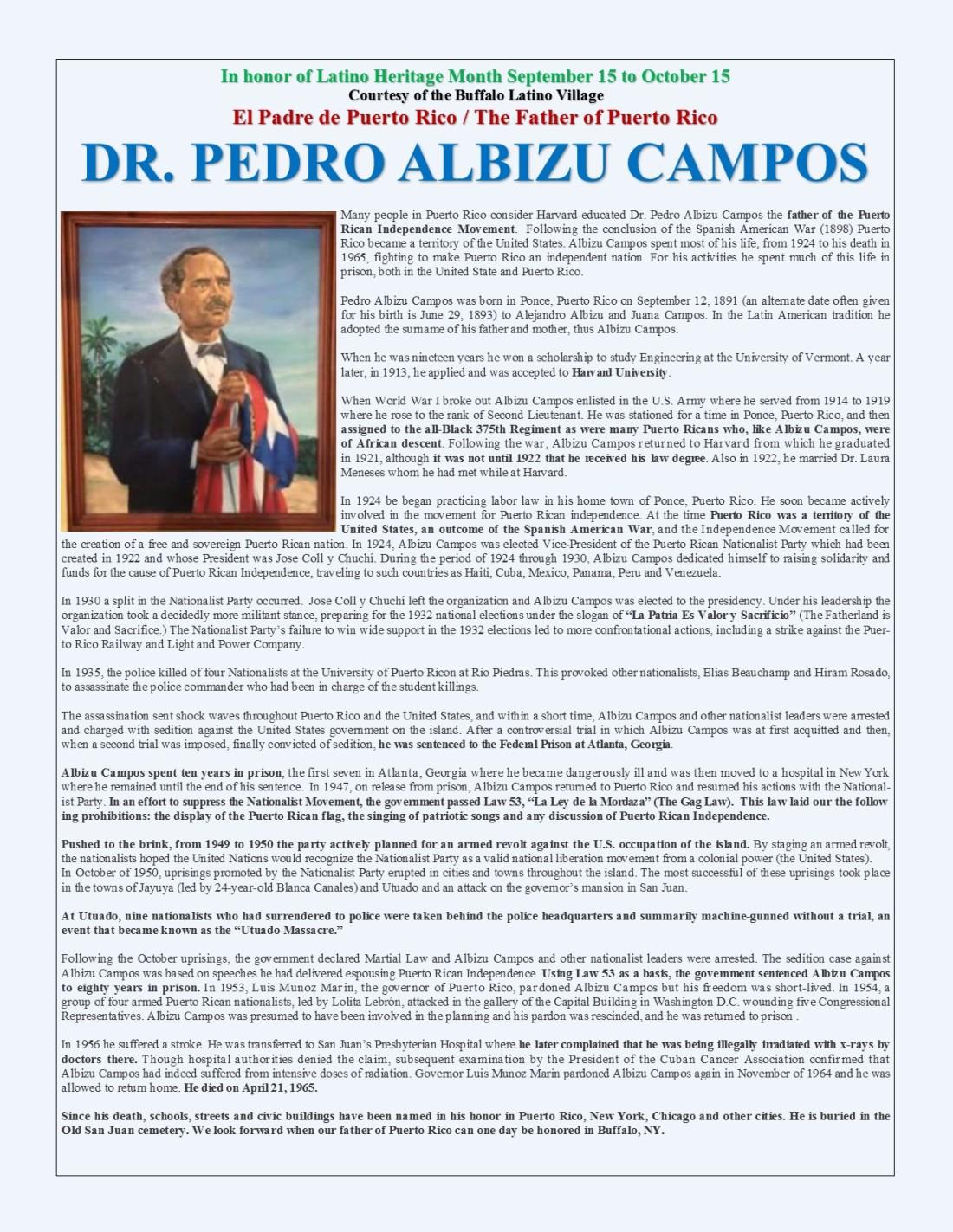 Dr Pedro Albizu Campos