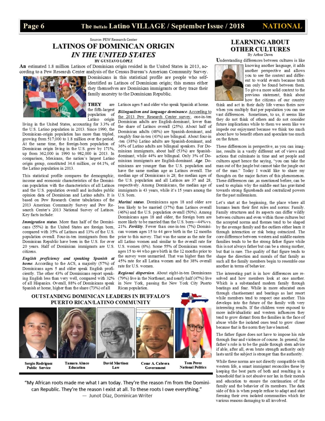 Page 6 Latino Village Newslette September Issue 2018 No. 11
