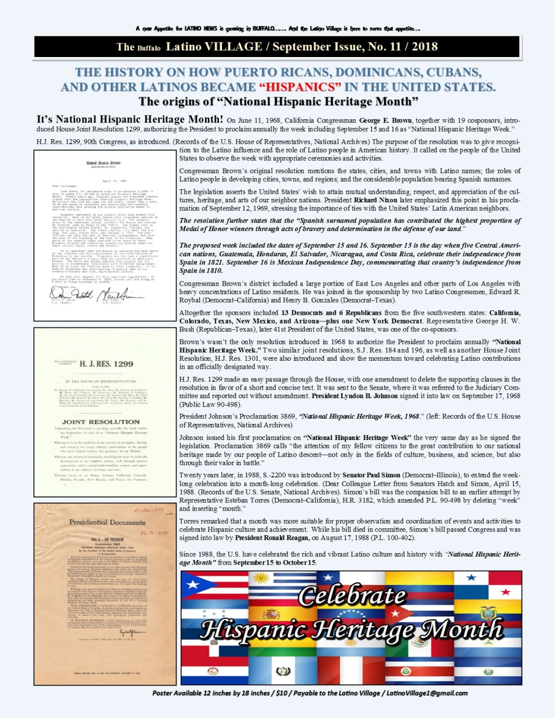 Page 8 Latino Village Newslette September Issue 2018 No. 11
