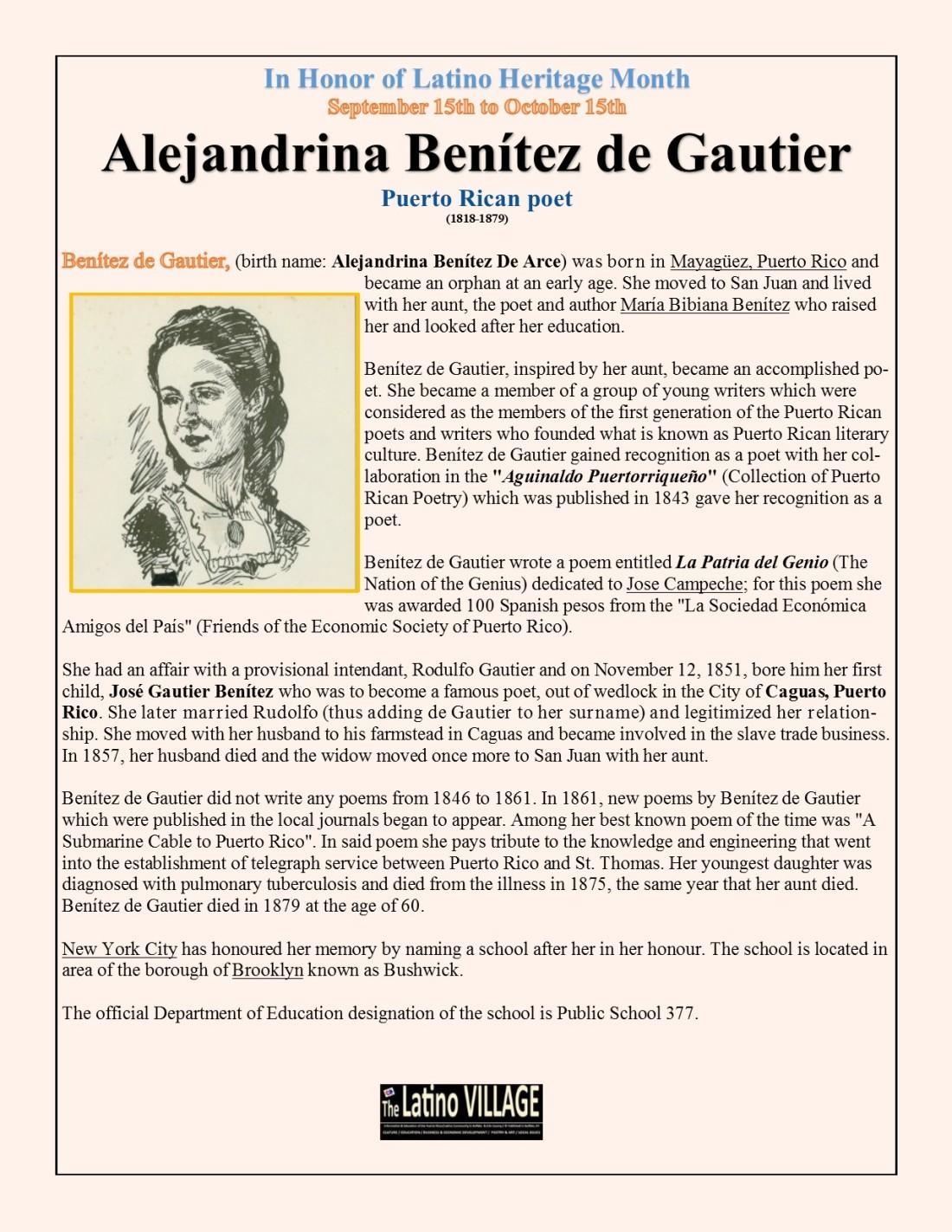 Alejandrina Benítez de Gautier