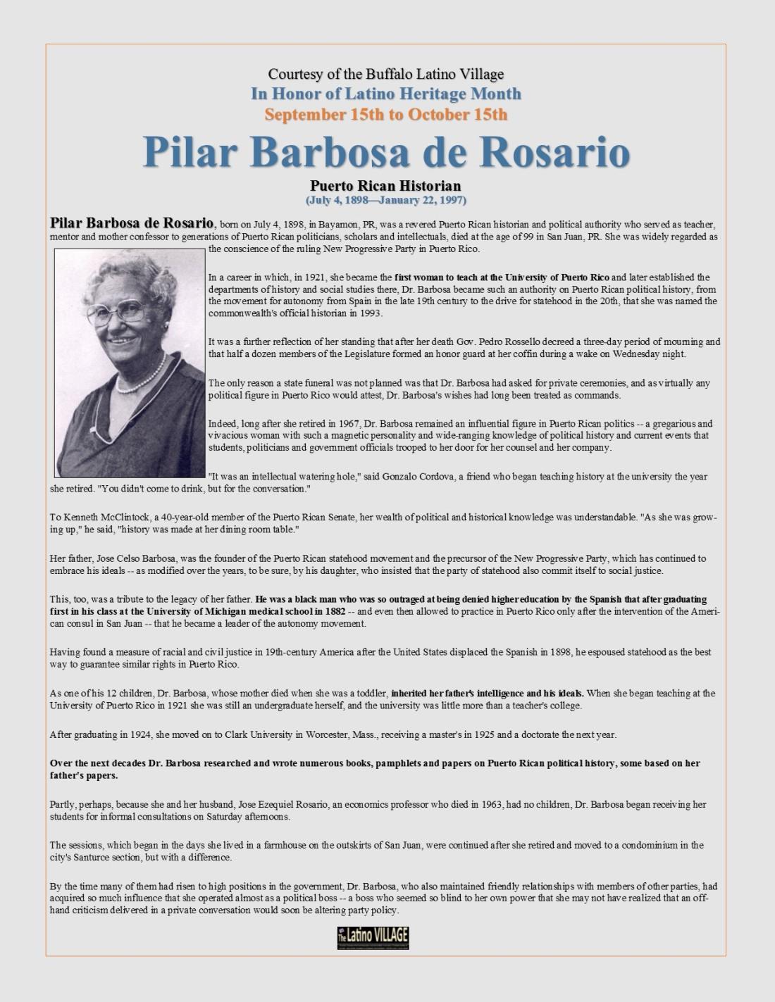 Pilar Barbosa de Rosario
