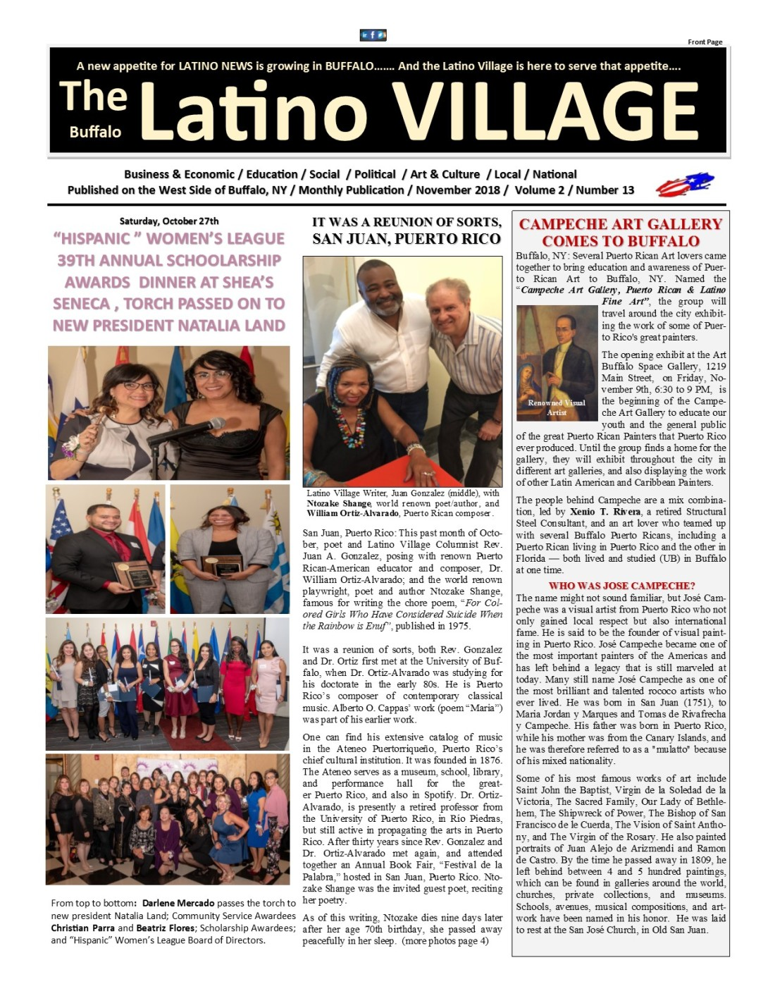 Page 1 Latino Village Newslette November Issue No 13
