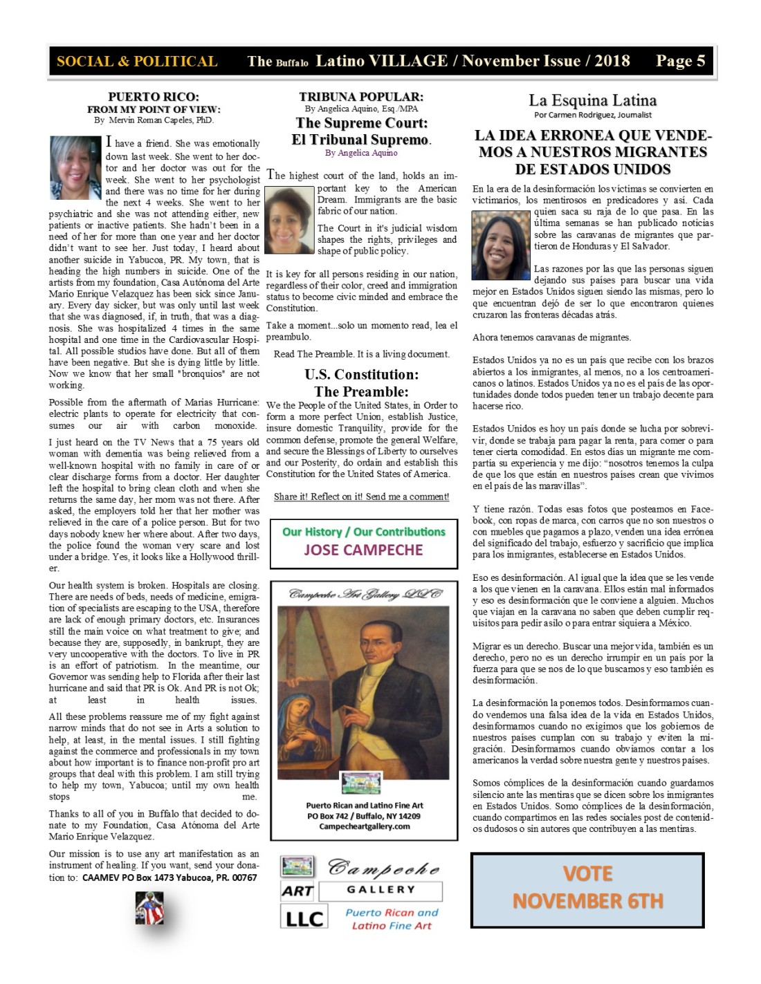 Page 5 Latino Village Newslette November Issue No 13