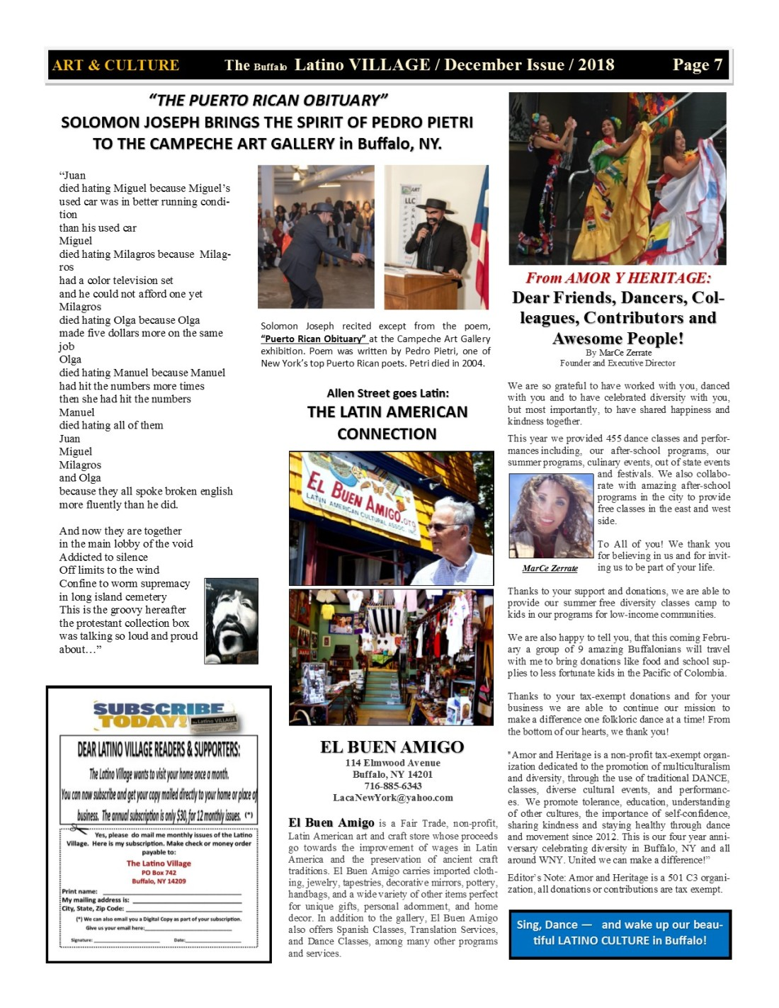 Page 7 Latino Village Newslette December Issue Volume 2 No 14