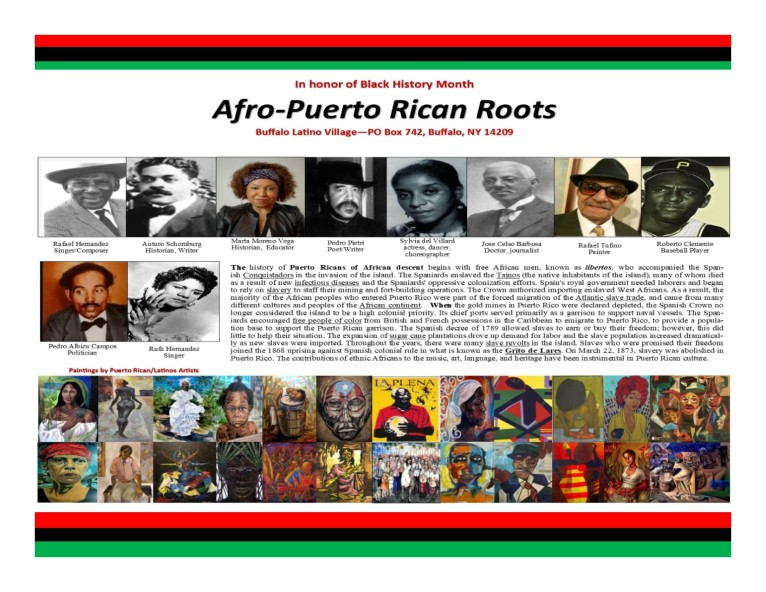 in honor of our puerto rican black history
