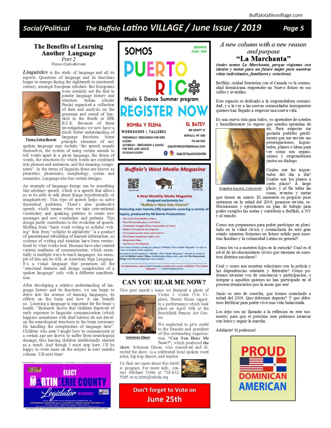 Page 5 June Issue Volume 3 Number 20, 2019