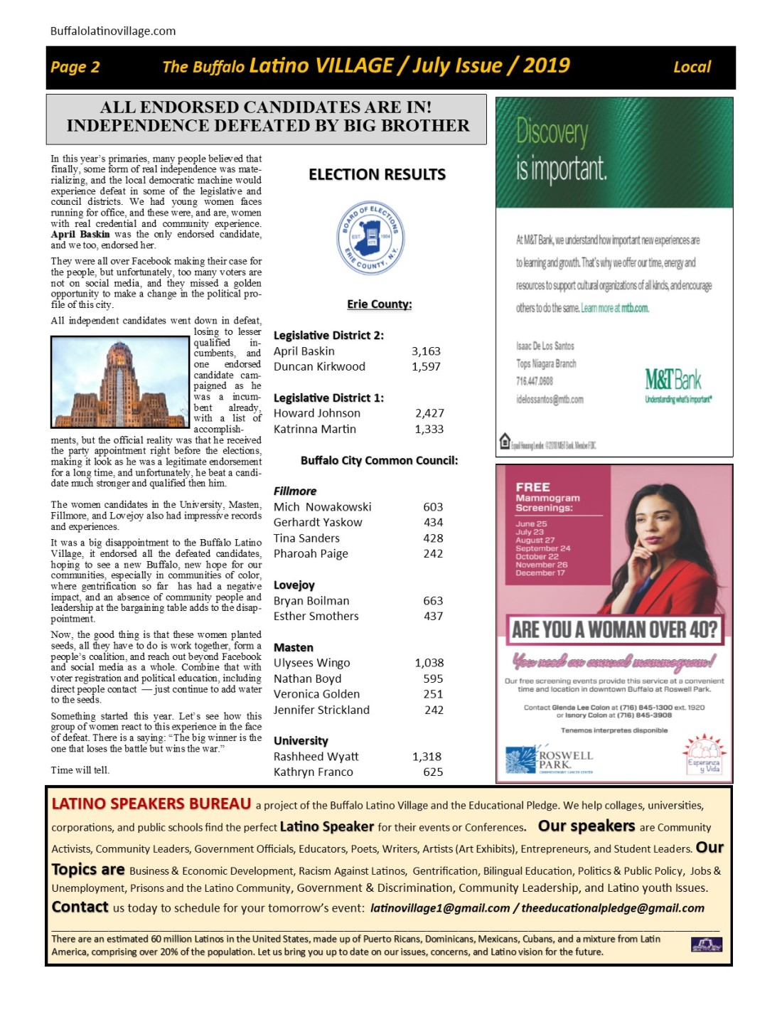 Page 2 July Issue Volume 3 Number 21, 2019