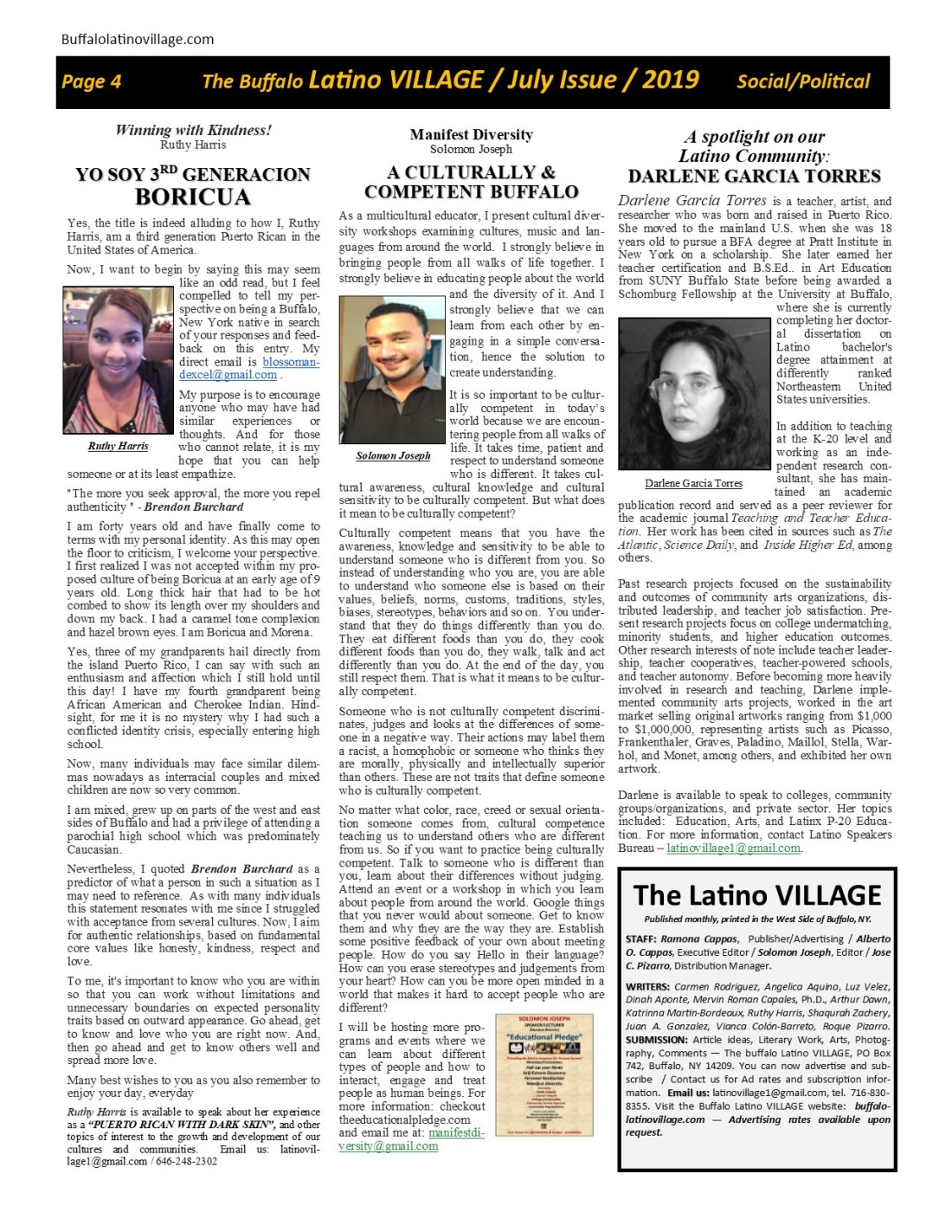 Page 4 July Issue Volume 3 Number 21, 2019