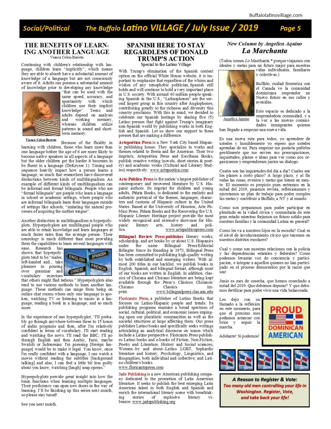 Page 5 July Issue Volume 3 Number 21, 2019