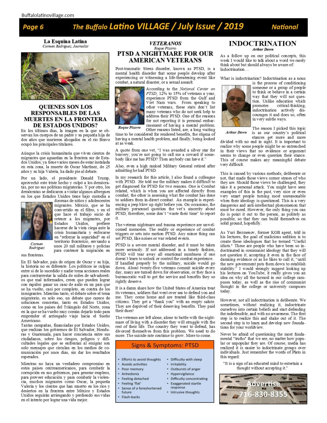 Page 6 July Issue Volume 3 Number 21, 2019