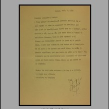 Letter to Alberto O. Cappas