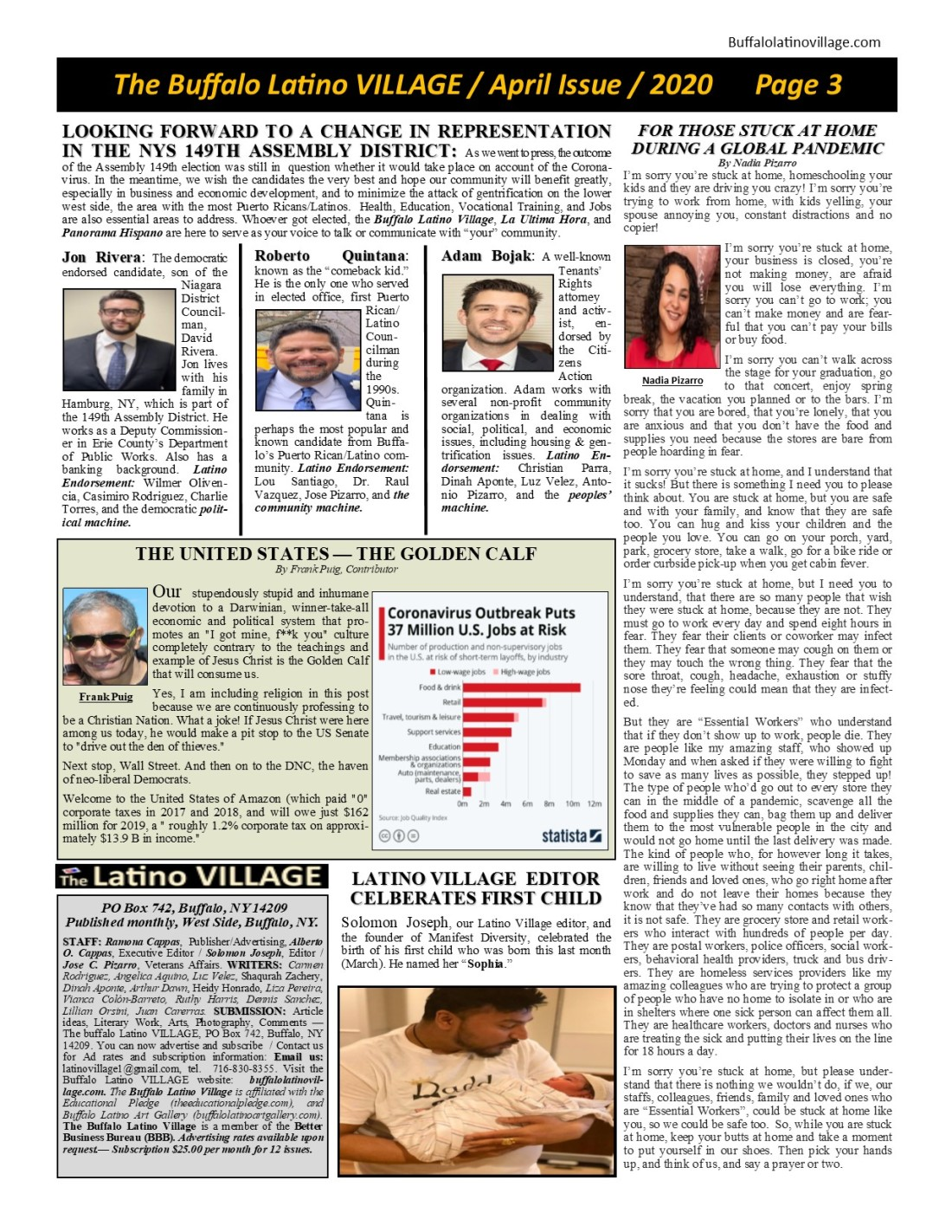 Page 3 April 2020 Issue