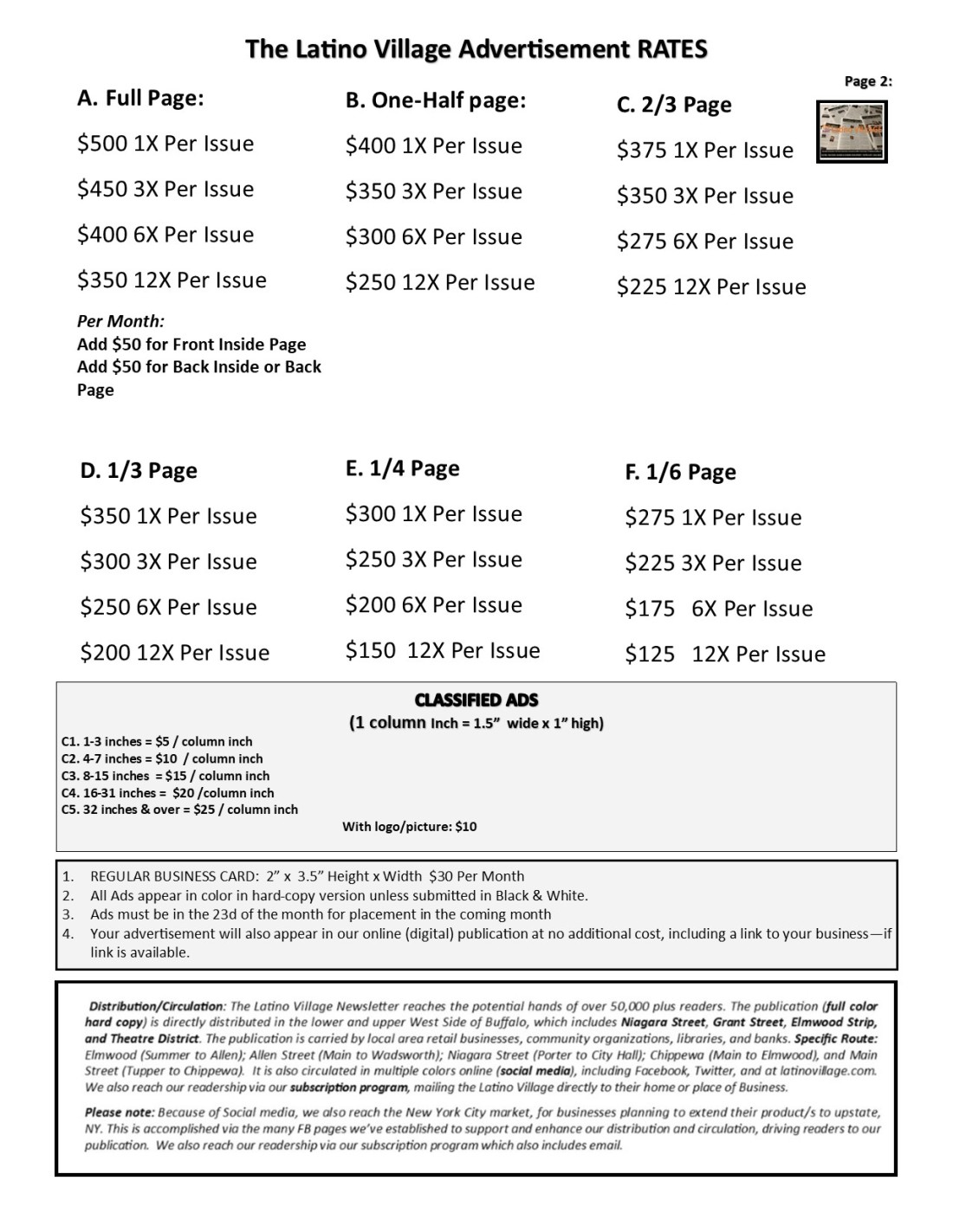 Page 3 Updated Advertising Rates 4 pages June 2020